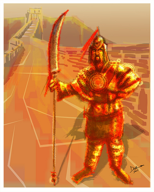 Speed Painting: Red Warrior